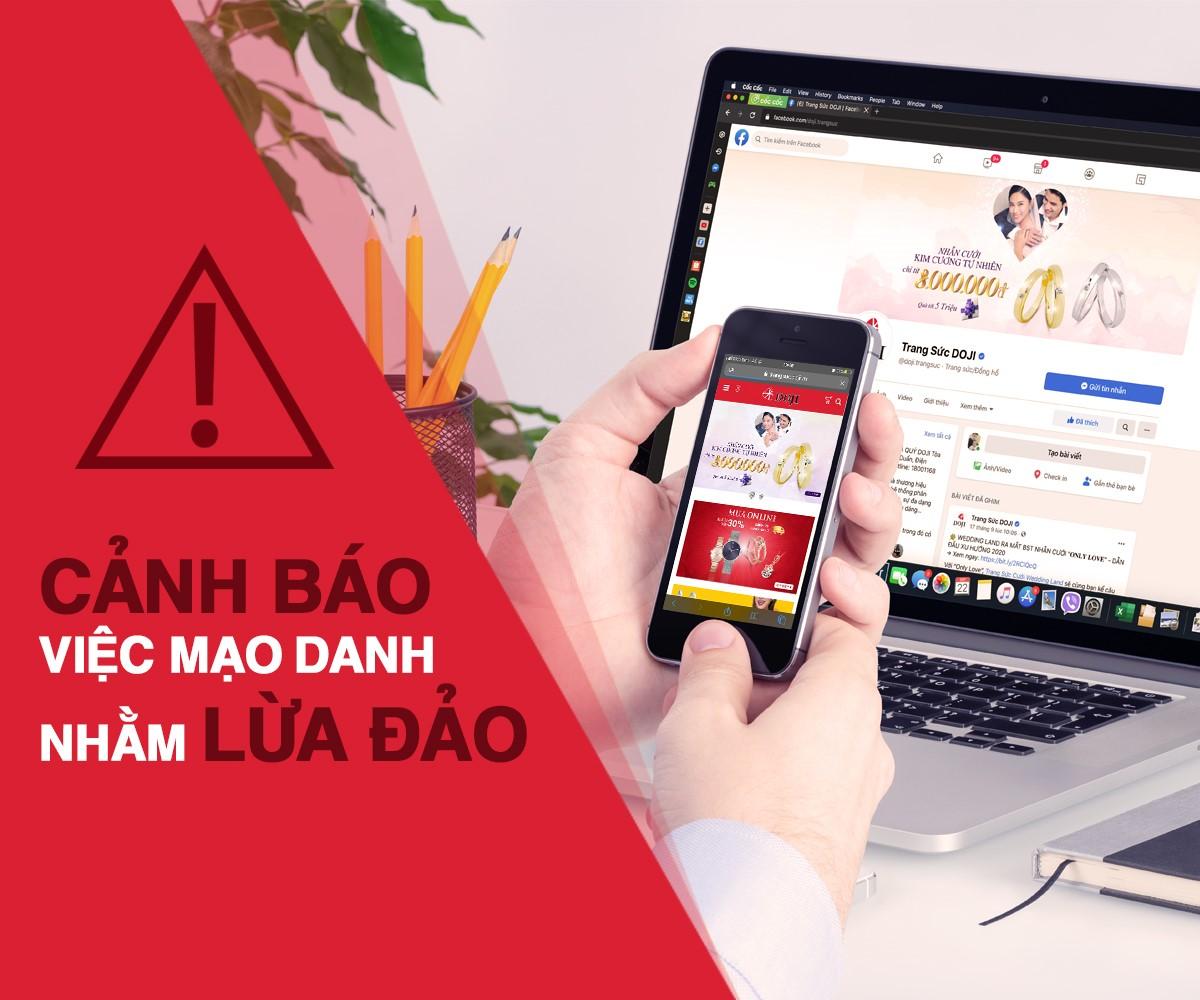 Cảnh báo mạo danh thương hiệu DOJI để lừa đảo