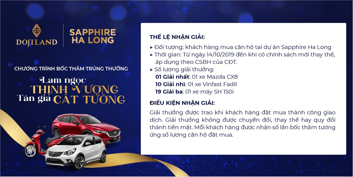Sự kiện bốc thăm trúng thưởng dành cho khách hàng đặt mua thành công căn hộ tại dự án Best Western Premier Sapphire Ha Long